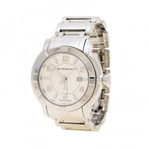 Givenchy White Stainless Steel GV.5254J Men's Wristwatch 48 mm