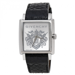 Givenchy Silver Opaline Stainless Steel GV.5214M Men's Wristwatch 38 mm