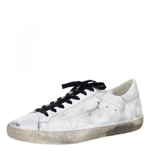Golden Goose White Leather Skate Superstar Low Top Sneakers Size 45