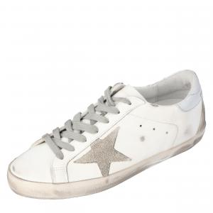 Golden Goose White Superstar Sneakers Size 43
