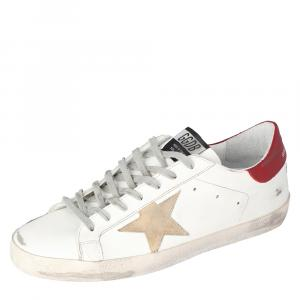 Golden Goose White Superstar Classic Sneakers Size EU 41