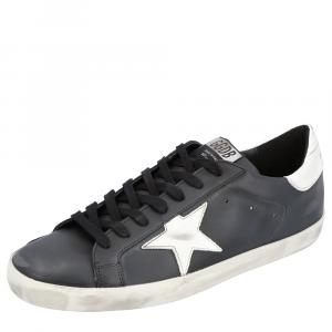 Golden Goose Black Distressed-effect Superstar Sneakers Size EU 43