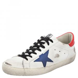 Golden Goose White/Red/Blue Superstar low-top sneakers Size EU 44