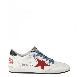 Golden Goose White/Red/Blue Ballstar low-top Sneakers Size EU 44