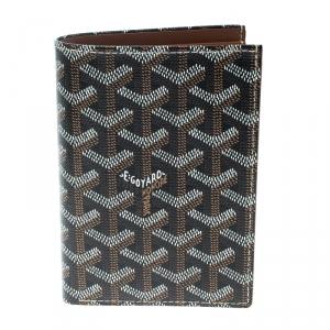 Goyard Black/Brown Coated Canvas Porte Feuille Simple Bifold Wallet