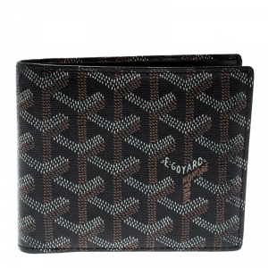 Goyard Brown/White Coated Canvas Victoire Bifold Wallet