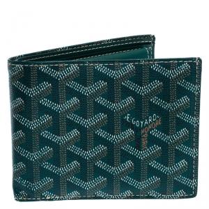 Goyard Green Coated Canvas Victoire Bifold Wallet