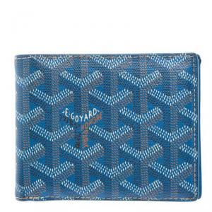 Goyard Blue Goyardine Coated Canvas Bi-Fold Wallet
