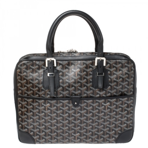 Goyard Black Goyardine Canvas and Leather Ambassade PM Briefcase