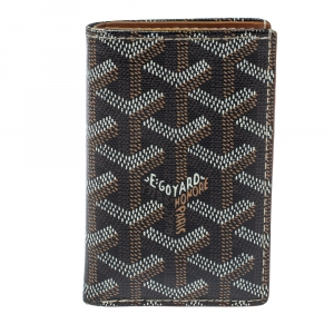 Goyard Brown Goyardine Coated Canvas St. Marc Bifold Card Holder
