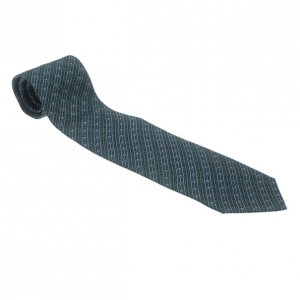 Gucci Blue Polka Dot Striped Silk Tie