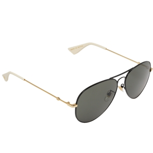 Gucci Gold/Black GG0515S Bee Aviator Sunglasses