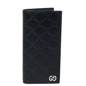 Gucci Navy Blue Guccissima Leather Long Wallet