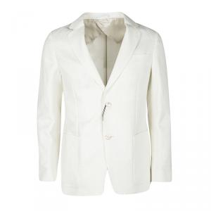 Gucci Cream Textured Regular Fit Tailored Blazer L