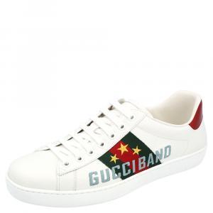 Gucci White Ace Gucci Band Sneakers Size UK 8 /  EU 41