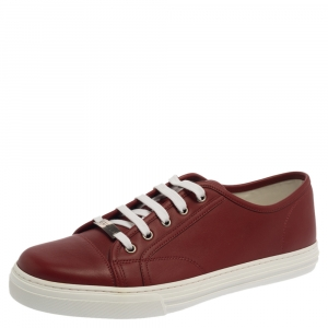 Gucci Red Leather Miro Soft Low Top Sneakers Size 43.5