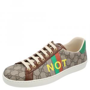 Gucci Beige/Brown GG Canvas Fake/Not Print Ace Sneaker Size EU 40.5