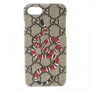 Gucci Beige GG Supreme Canvas Kingsnake Print iPhone 6 Case