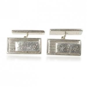 Gucci Curve Aperte Sterling Silver Chain Cufflinks