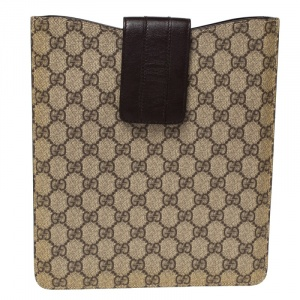 Gucci Beige/Brown GG Supreme Canvas iPad Case