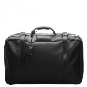 Gucci Black Micro Guccissima Canvas Travel Bag