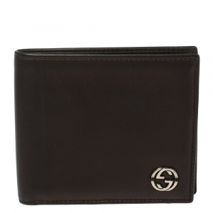 Gucci Black Leather GG Marmont Bifold Wallet