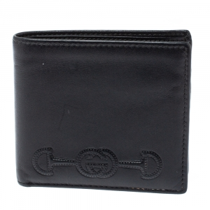 Gucci Black Leather Bifold Wallet