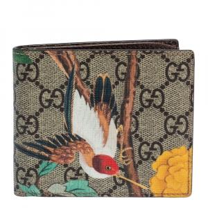 Gucci Multicolor Tian GG Supreme Canvas Bifold Wallet