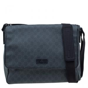Gucci Black GG Coated Canvas Messenger Bag