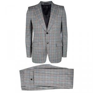 Gucci Monochrome Glen Plaid Tailored Suit L