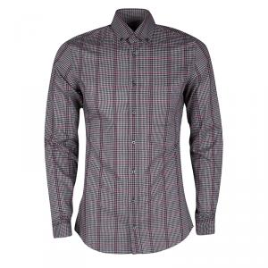 Gucci Multicolor Plaid Cotton Long Sleeve Button Down Shirt S