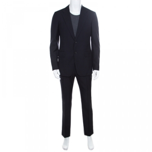 Gucci Navy Blue Wool Tailored Suit M