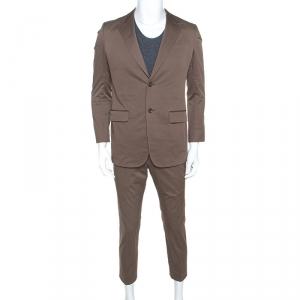 Gucci Brown Cotton Suit Set S