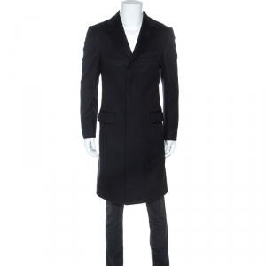 Gucci Midnight Blue Wool Long Coat XS