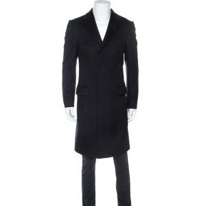 معطف غوتشي طويل صوف أزرق ميدنايت XS