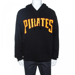 Gucci Black Logo & Pirates Patched Knit Hoodie M