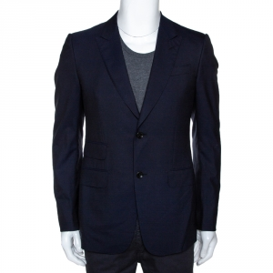 Gucci Midnight Blue Wool Double Button Tailored Blazer S