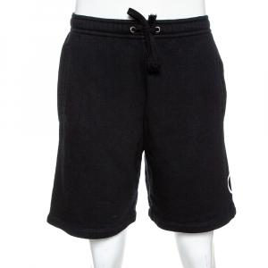 Gucci Black Logo Print Cotton Jersey Shorts M