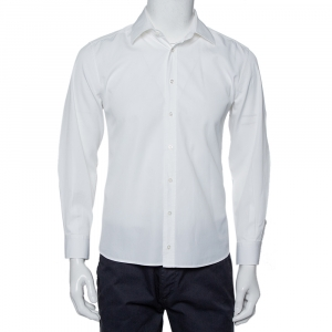 Gucci White Cotton Logo Jacquard Detail Button Front Fitted Shirt XL