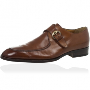 Gucci Tan Leather Monk Strap Derby Size 41