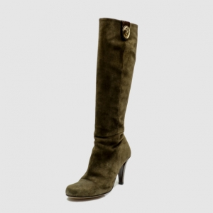 Gucci Brown Suede Hysteria' Knee Length Boots Size 35.5