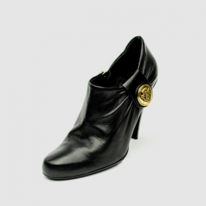 Gucci Black Leather 'Hysteria' Booties Size 37