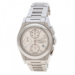 Gucci Silver Stainless Steel Chronograph 115.2 Men's Wristwatch 42 mm