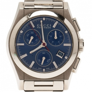 Gucci Blue Stainless Steel Pantheon Men's Wristwatch 35MM