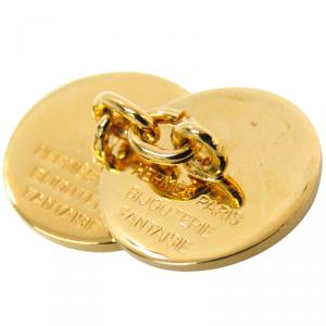 Hermes Gold Plated Sellier Cufflinks