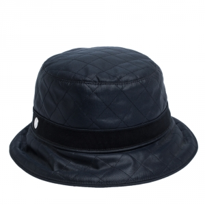 Hermes Navy Blue Quilted Bucket Hat