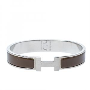 Hermes Clic HH Enamel Palladium Plated Narrow Bracelet