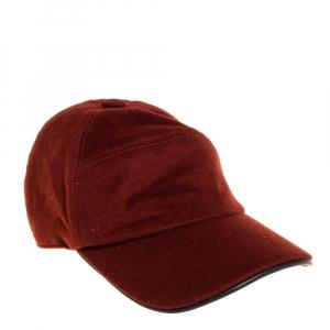 Hermés Rustic Brown Cashmere Baseball Cap Size 57
