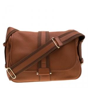 Hermes Etrusque Clemence Leather Bourlingue Messenger Bag