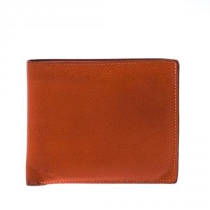 Hermes Orange Epsom Leather MC² Copernic Wallet